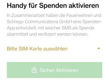 App herunterladen und SIM-Karte für Spenden aktivieren
